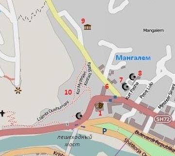 р-н Мангалем на карте Берата