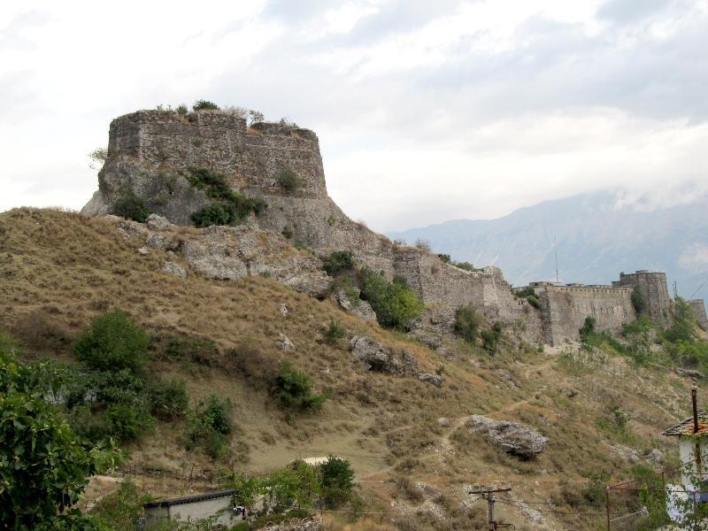 Гирокастра: крепость (южная сторона)