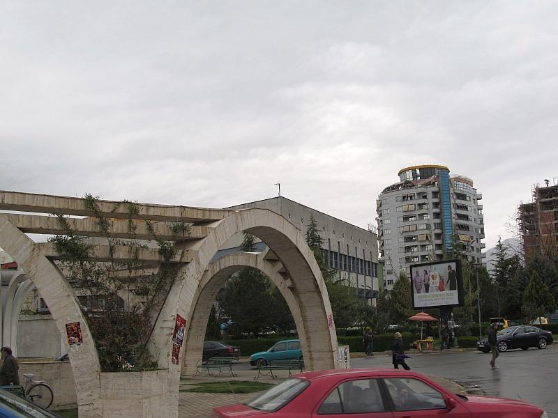 Эльбасан: фонтан Три Моста