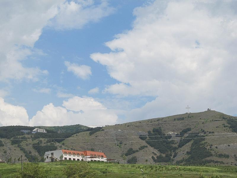 Корча: вид на гору Морава
