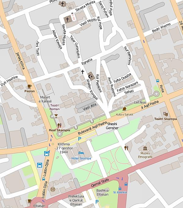 Эльбасан: план города