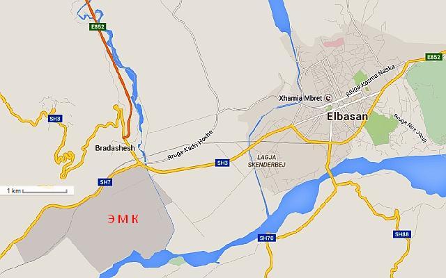 металлургический комбинат на карте Эльбасанского района
