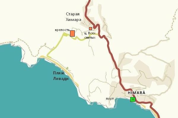 карта округа Химара