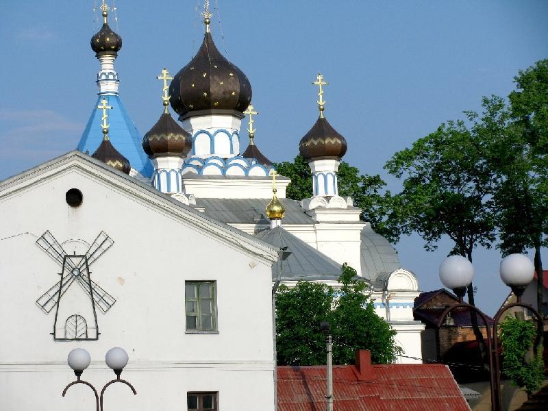 Поставы: водяная мельница и церковь Николая Чудотворца