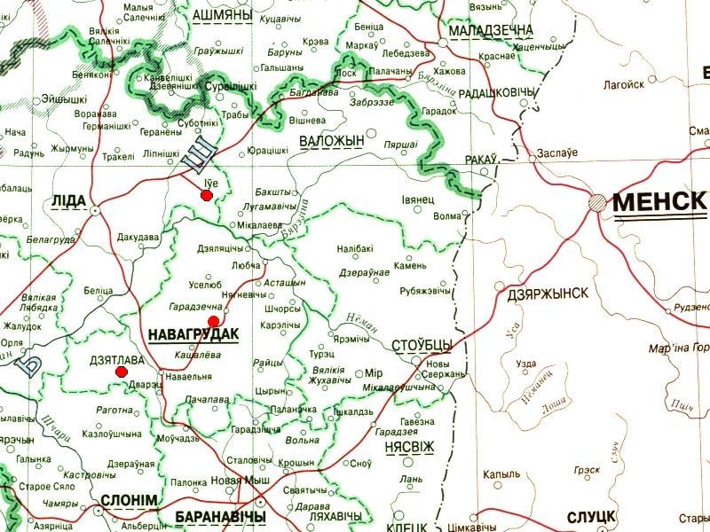 карта кресов всходних