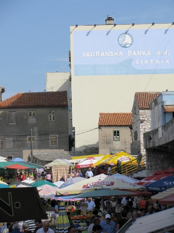 Шибеник: рынок