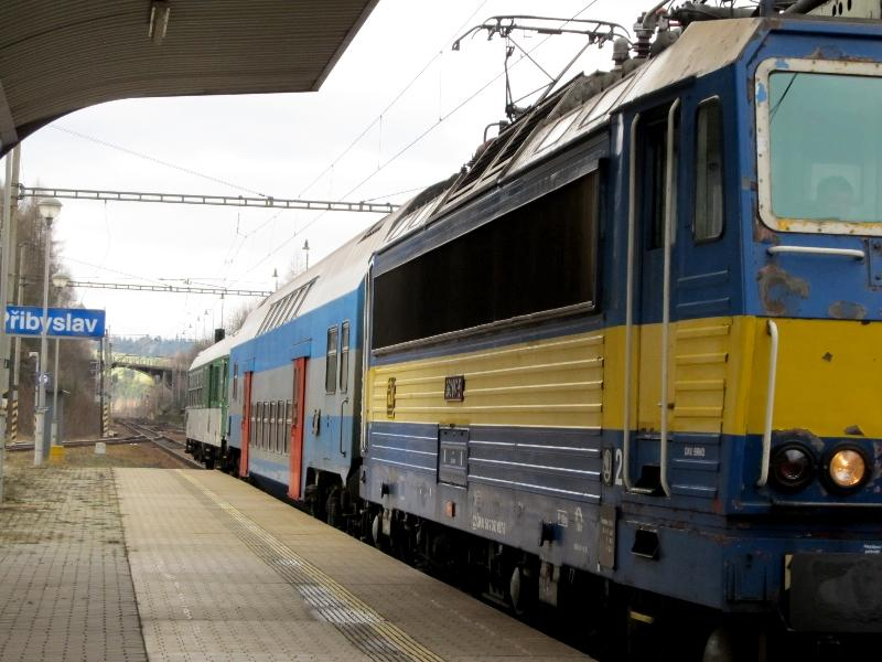 электричка на станции Пшибыслав