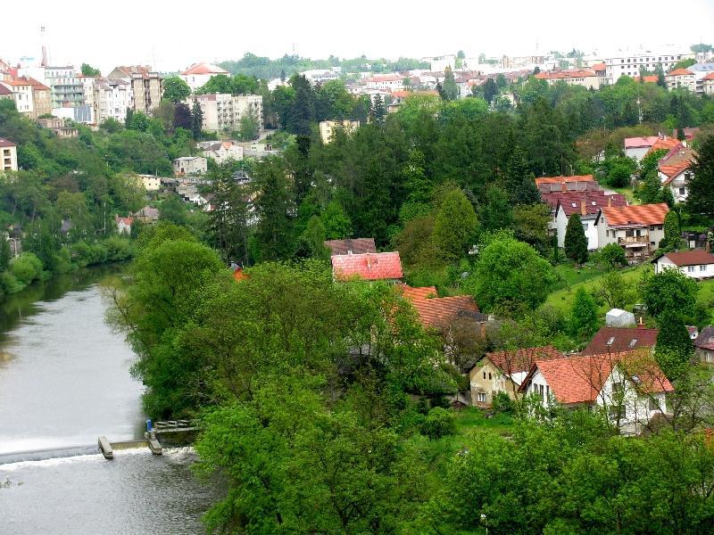 Табор: вид на реку Лужницу