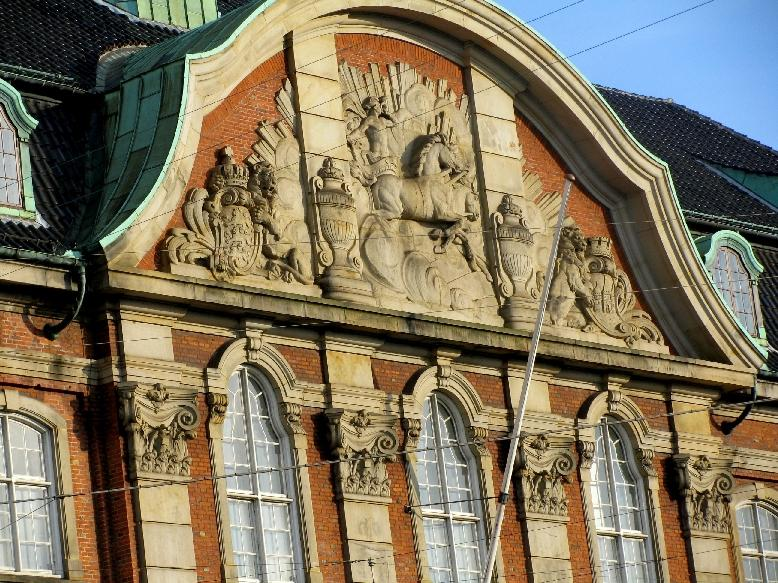 Копенгаген: почтовое управление (фронтон)