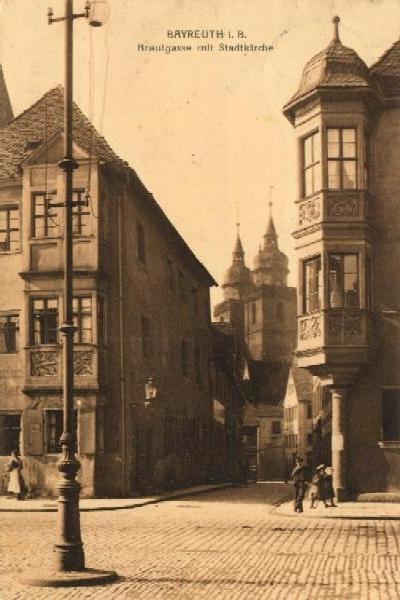 Байрёйт: Браутгассе, 1900