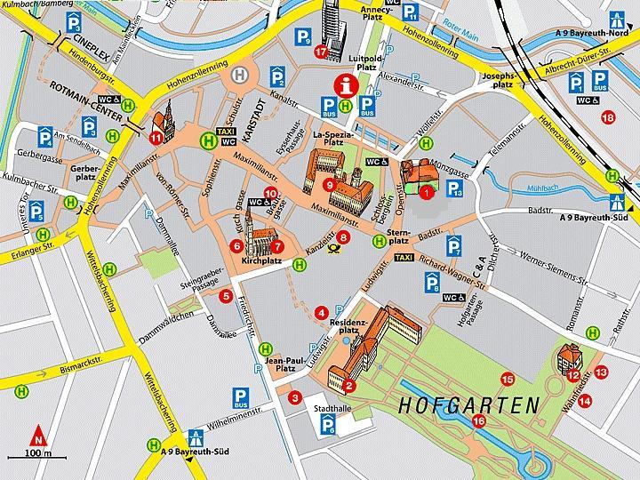 Байрёйт: план города