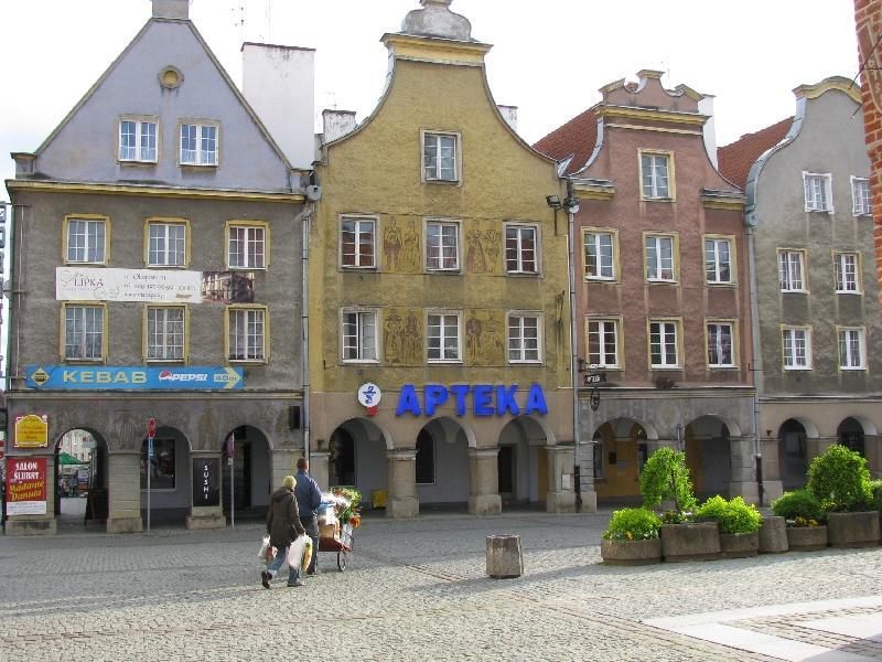 Ольштын: барочные фасады