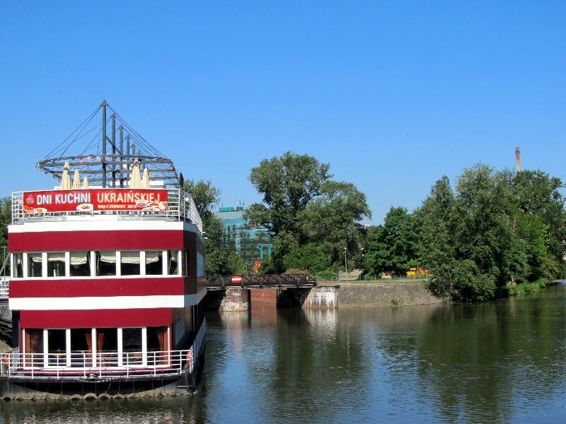 Вроцлав: плавучий ресторан