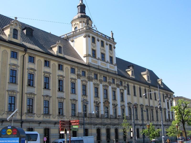 Вроцлавский университет: северный фасад главного здания