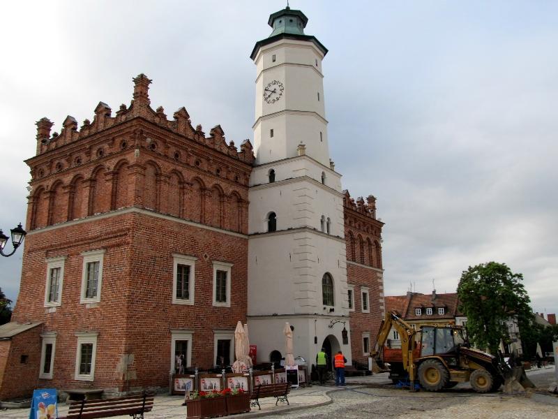 Сандомир: ратуша (западная сторона)