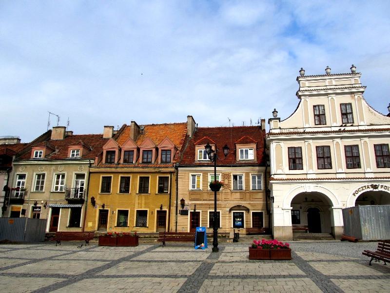 Сандомир: площадь Рынек (западная сторона)