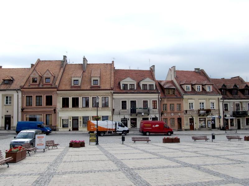 Сандомир: площадь Рынек (восточная сторона)