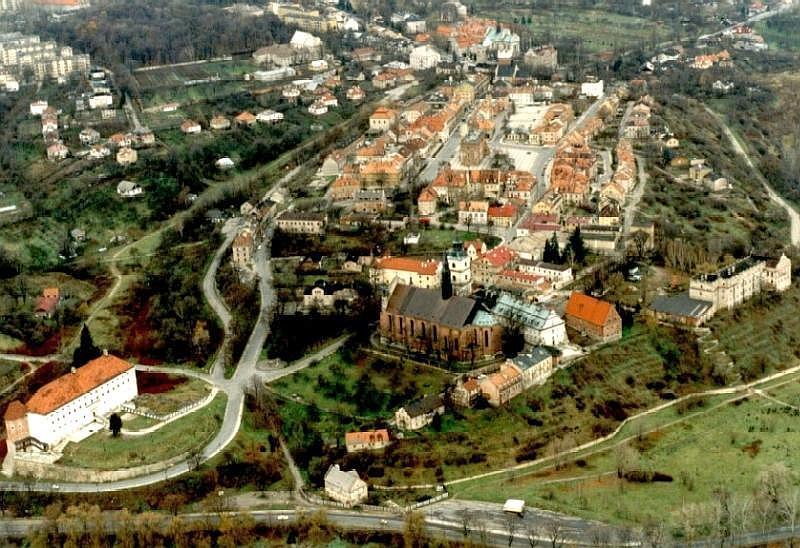 Сандомир: вид сверху на старый город