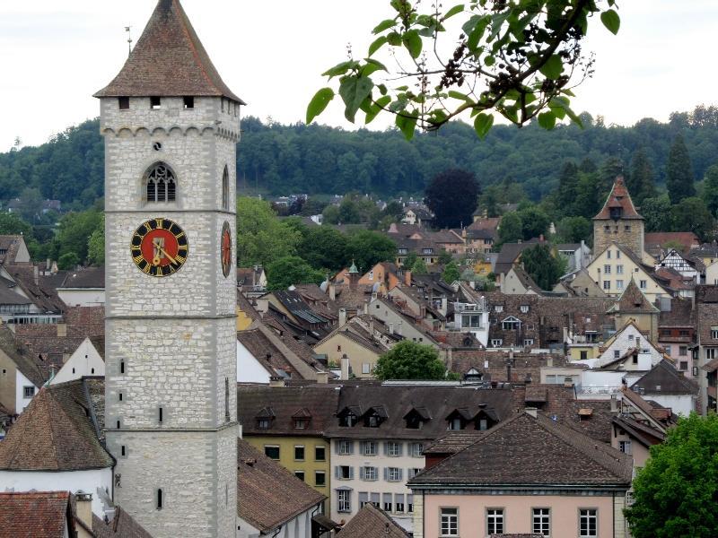Шаффхаузен: панорама с колокольней св.Иоанна
