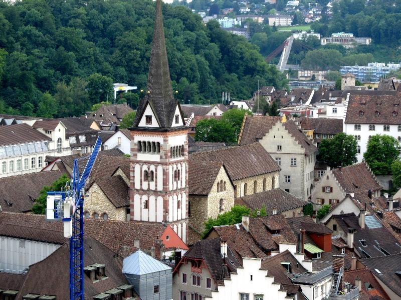 Шаффхаузен: панорама с аббатством Всех святых