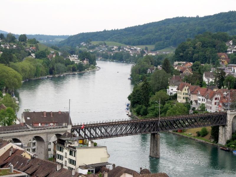 Шаффхаузен: ж.д. мост через Рейн