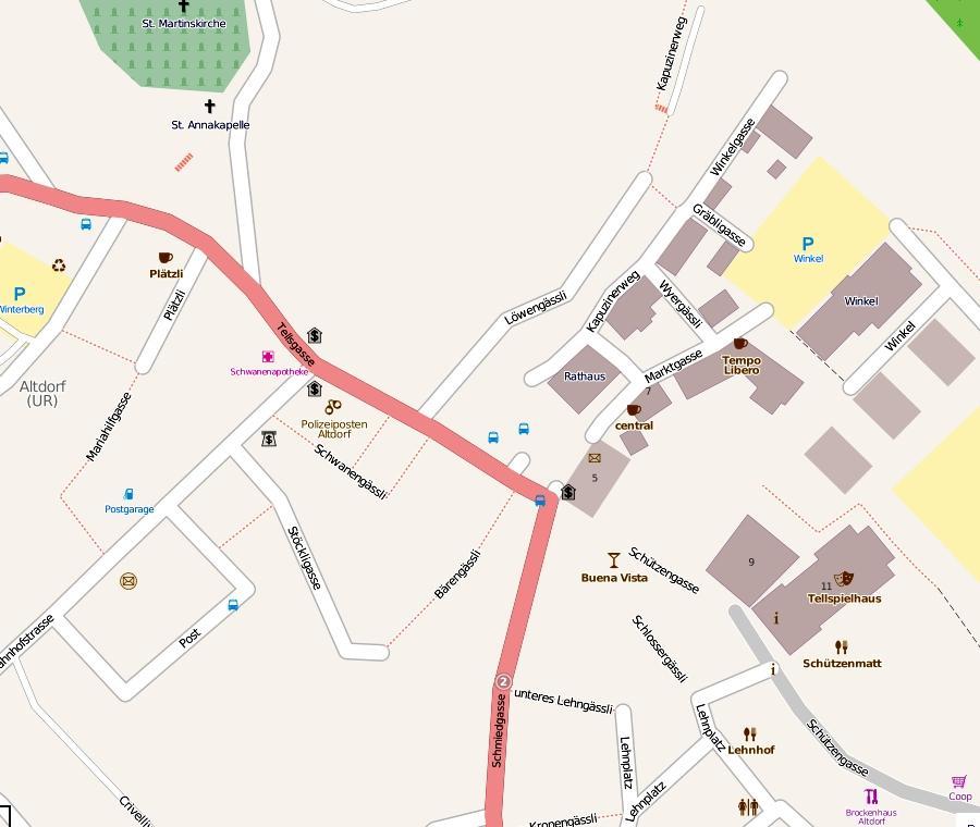 Альтдорф: план города