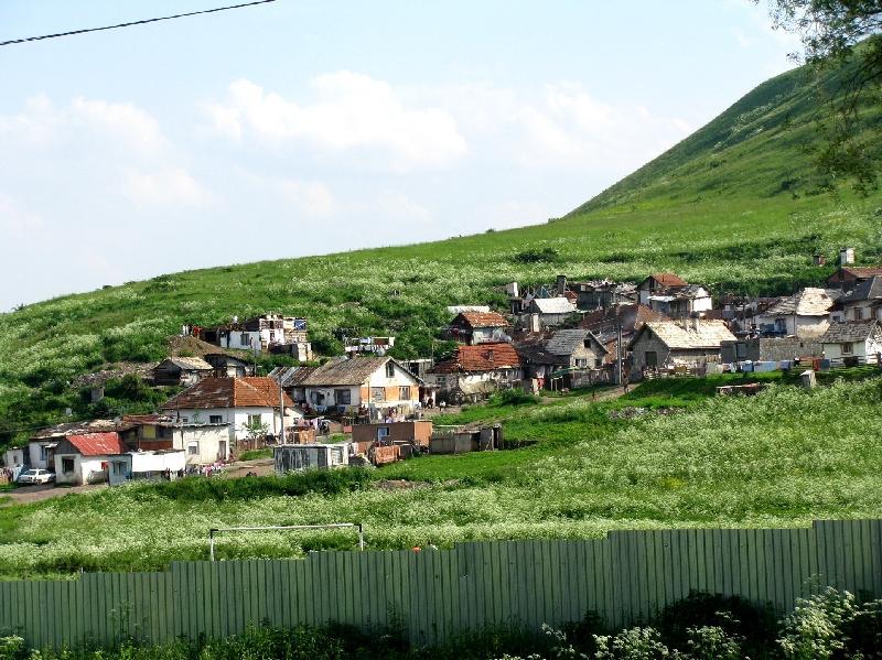 цыганский посёлок близ г. Левоча