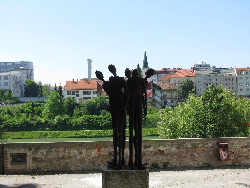 Марибор: памятник жертвам холокоста