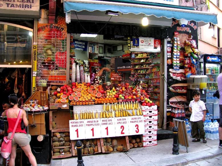 Стамбул: фруктовые лавки