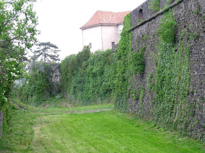 Ужгород: замок Другетов (крепостная стена со рвом)