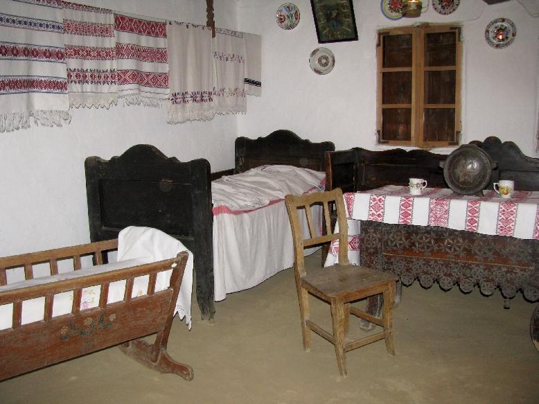 Ужгородский скансен: крестьянская изба