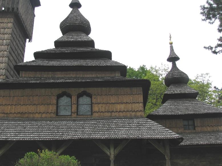 Ужгородский скансен: церковь из села Шелестово