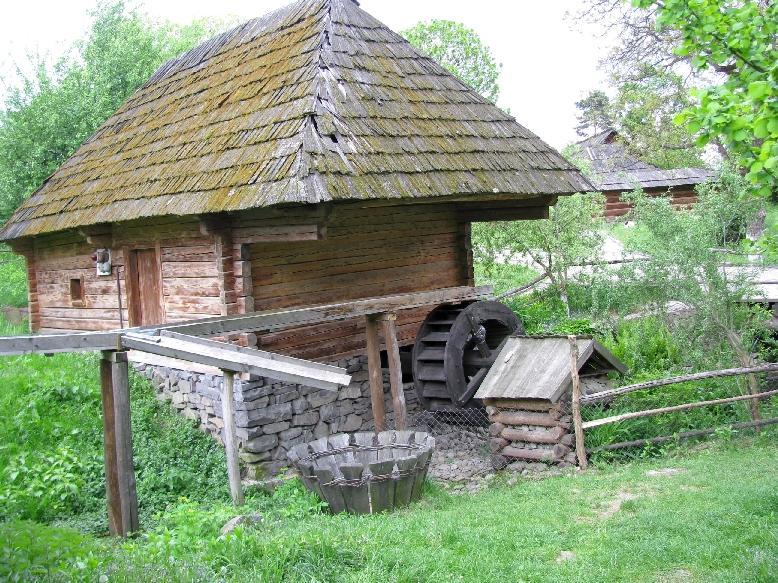 Ужгородский скансен: водяная мельница