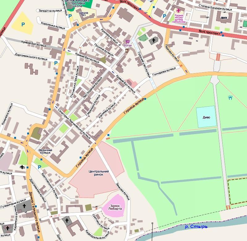 Луцк: план города