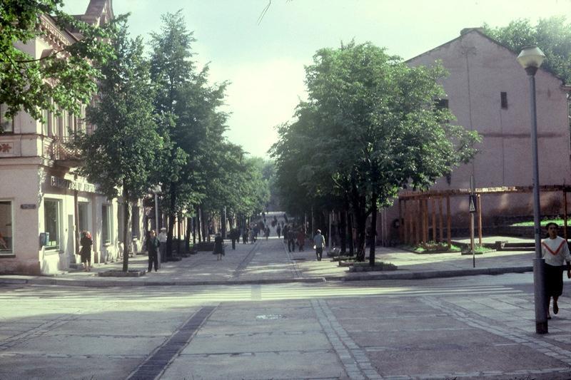 Даугавпилс: улица Ригас в 1985