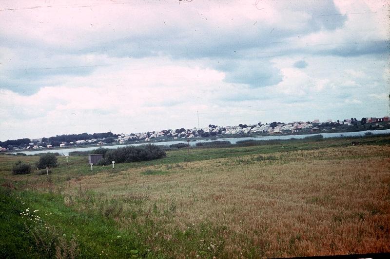 вид на город Гулбене, 1985