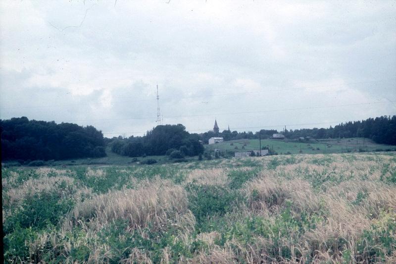 вид на город Цесвайне, 1985