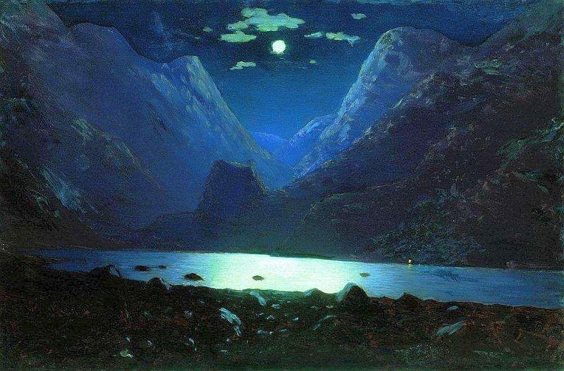 Архип Куинджи: Дарьяльское ущелье - лунная ночь